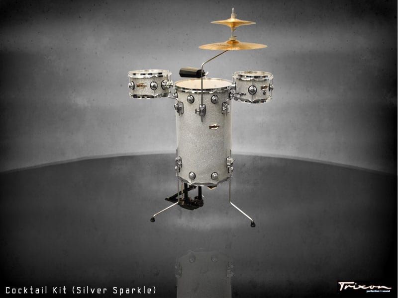 Trixon Cocktail Elite Drum Kit – Silver Sparkle
