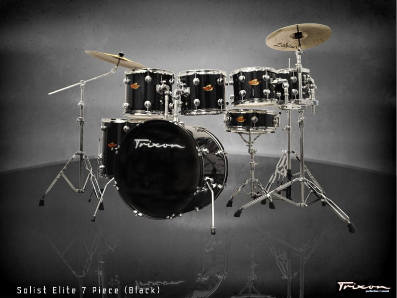 Trixon Elite 7-Piece Gig Kit – Black