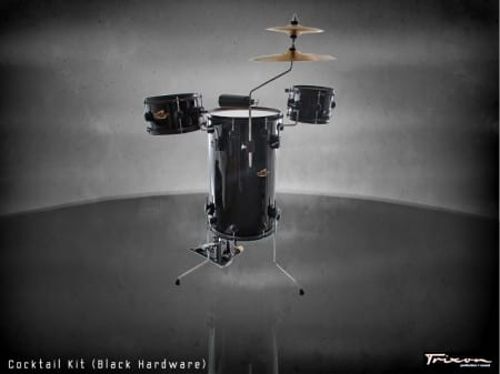 Trixon Cocktail Elite Drum Kit &#8211; Black with Black Hardware