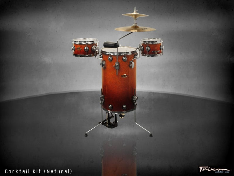 Trixon Cocktail Elite Drum Kit – Orange Fade