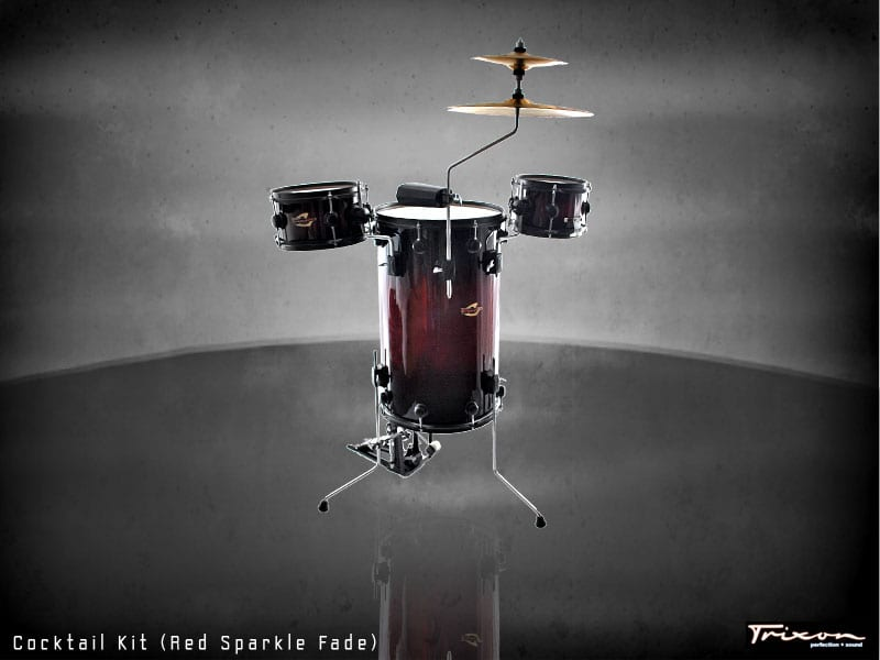 Trixon Cocktail Elite Drum Kit – Red Fade