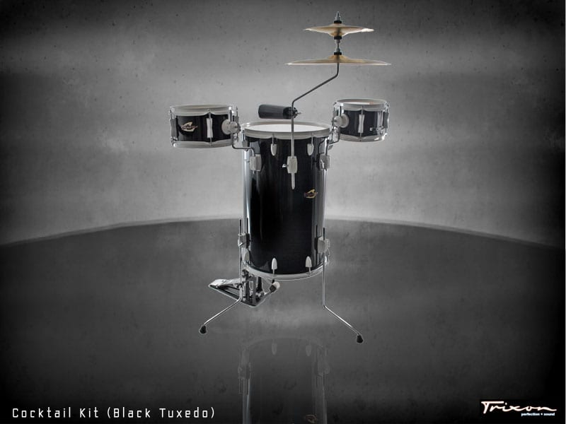 Trixon Cocktail Drum Kit – Tuxedo Black