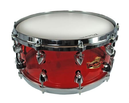 Trixon Solist Acrylic Snare Drum 14 by 6.5″