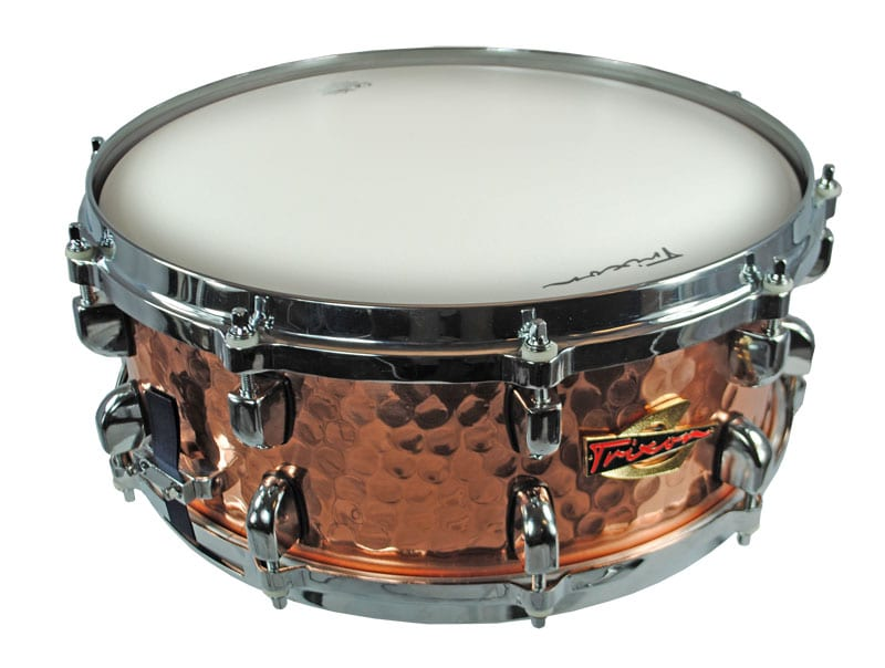 Trixon Solist Hammered Copper Snare Drum 14 by 6.5″