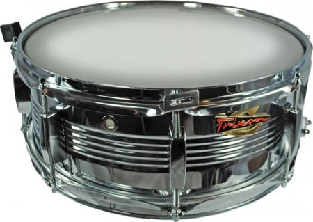 Trixon Solist Elite Chrome Steel Snare with V-Rib Shell