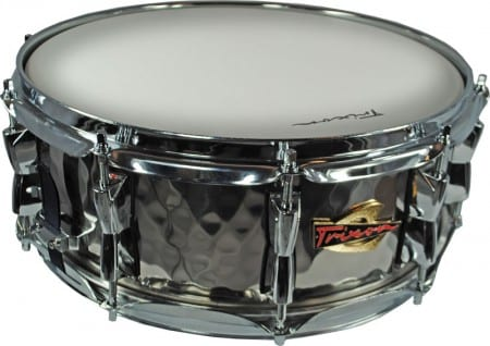 Trixon Solist Hand-Hammered Stainless Steel Snare Drum Die Cast Hoop