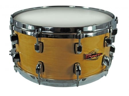 Trixon Solist Elite Wood Shell with Die Cast Hoops 14″x6.5″ – Natural Color