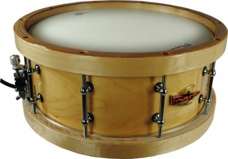 Trixon Solist Elite Wood Shell with Wood Hoops Snare 14 by 5.5″