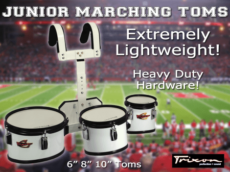 Junior Marching Toms – 6″, 8″ & 10″