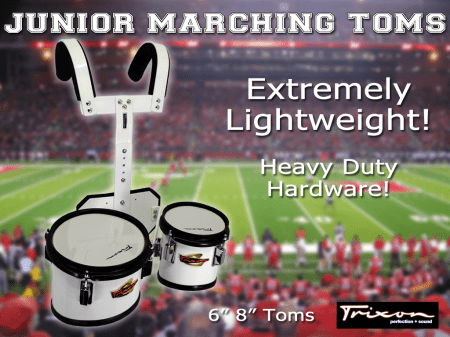 Junior Marching Toms – 6″ & 8″