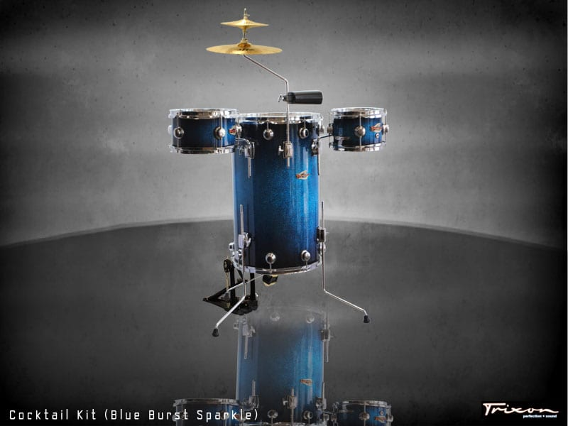 Trixon Cocktail Elite Drum Kit – Blue Burst Sparkle