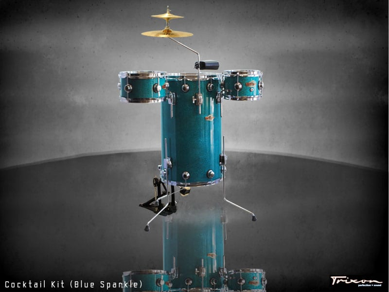 Trixon Cocktail Elite Drum Kit – Blue Sparkle