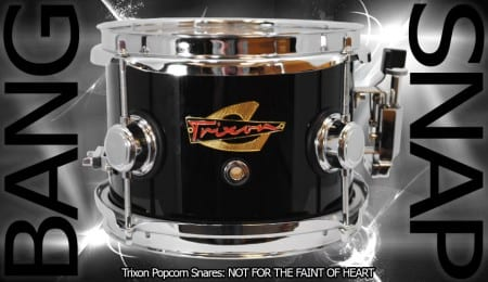 Trixon Elite Popcorn Snare &#8211; Black