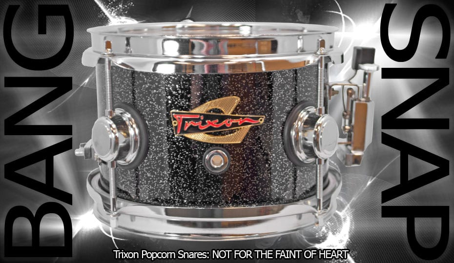 Trixon Elite Popcorn Snare – Black Sparkle
