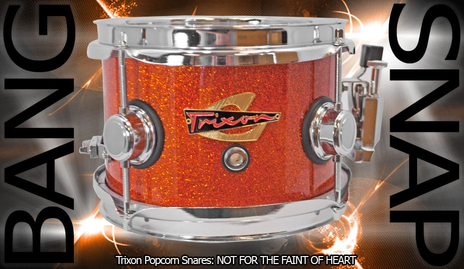 Trixon Elite Popcorn Snare – Orange Sparkle