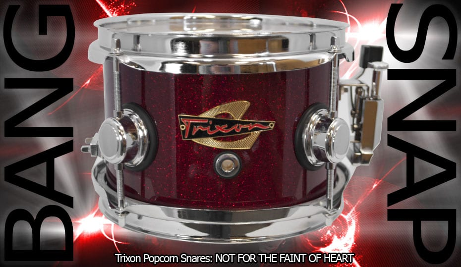 Trixon Elite Popcorn Snare – Red Sparkle