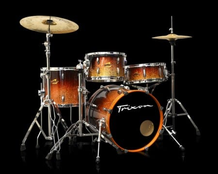 Trixon 4 Piece Maple Kit – Ember Flake