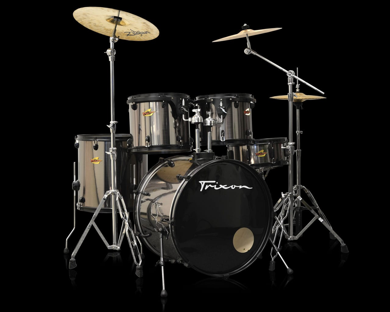 Trixon 5-Piece Birch Kit – Brushed Chrome