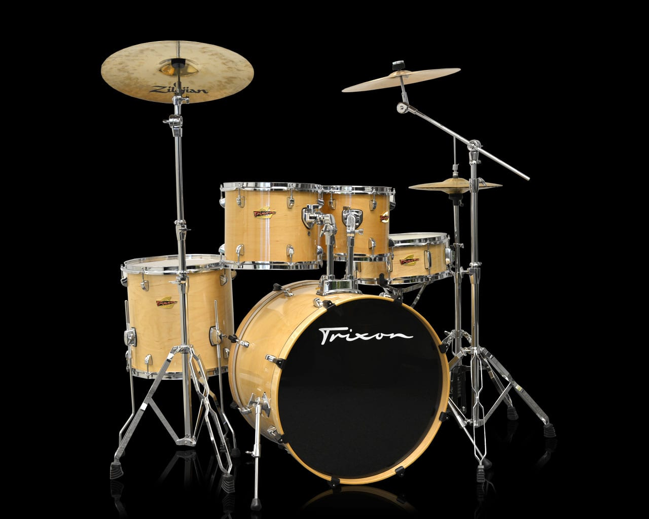Trixon 5-Piece Birch Kit – Natural Birch Lacquer