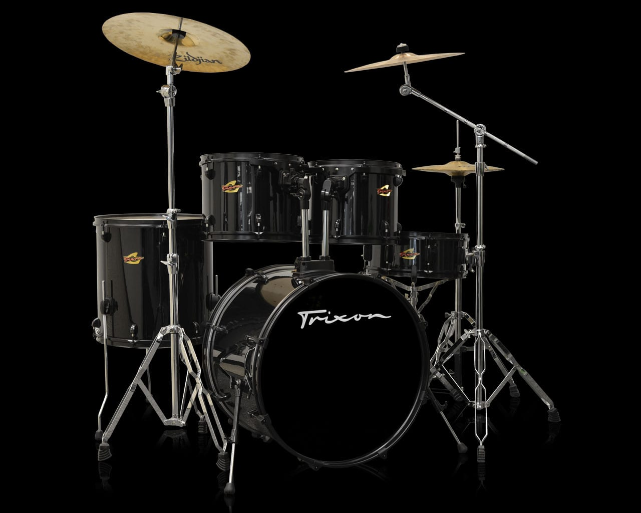 Trixon 5-Piece Birch Kit – Polished Onyx