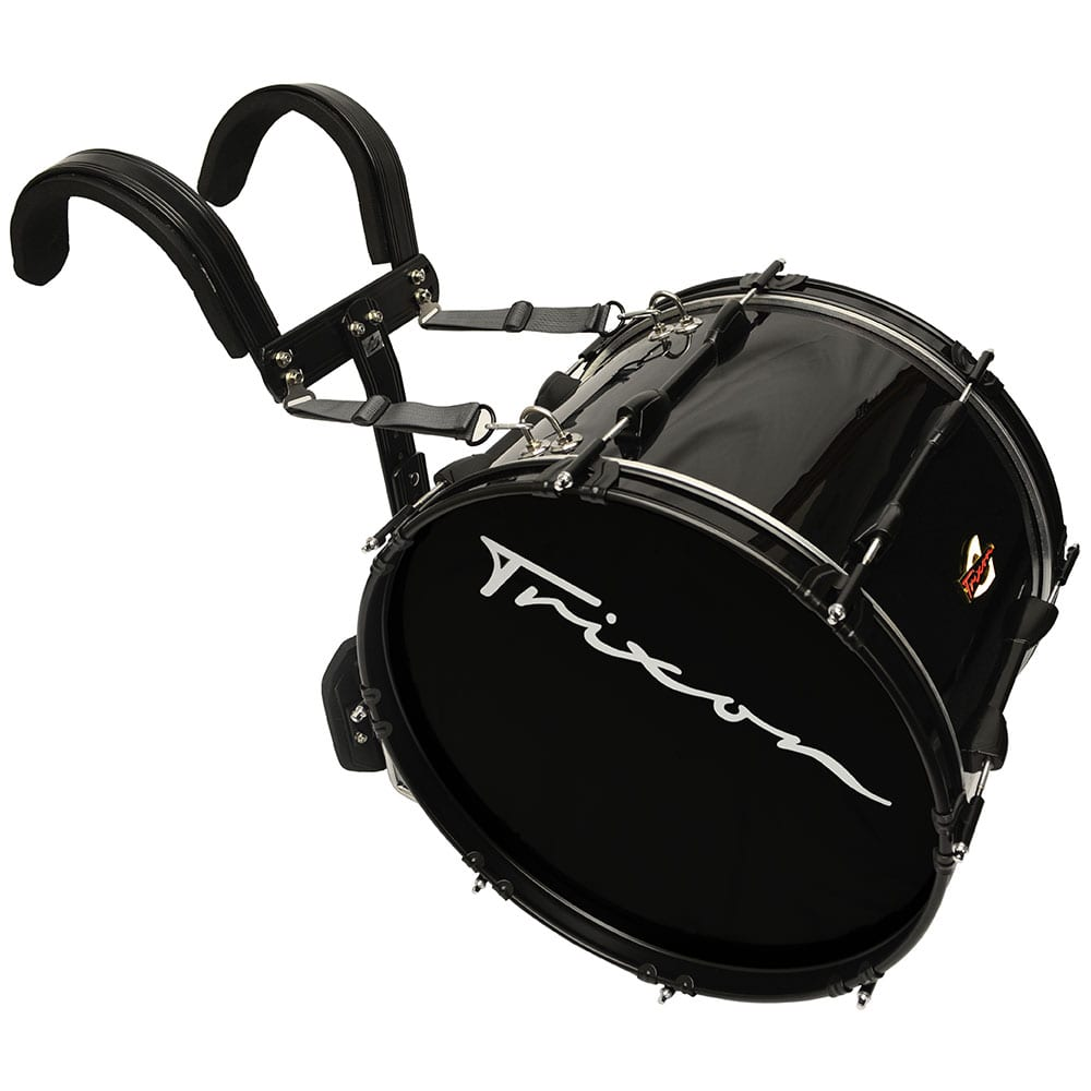 Field Series II Marching Bass Drum 18 by 12″ Black Polish