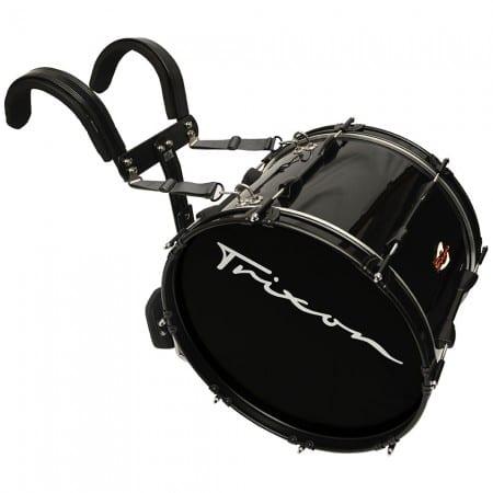 Field Series II Marching Bass Drum 24 by 12″ Black Polish