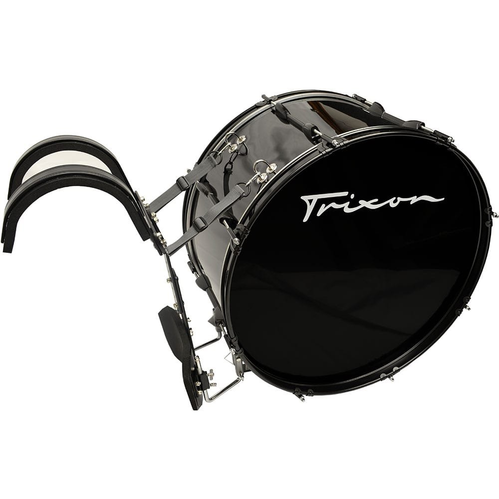 Field Series II Marching Bass Drum 26 by 12″ Black Polish