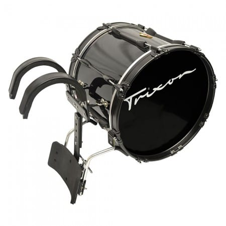 Field Series Pro Marching Bass Drum 22″ x 14″ Black Polish