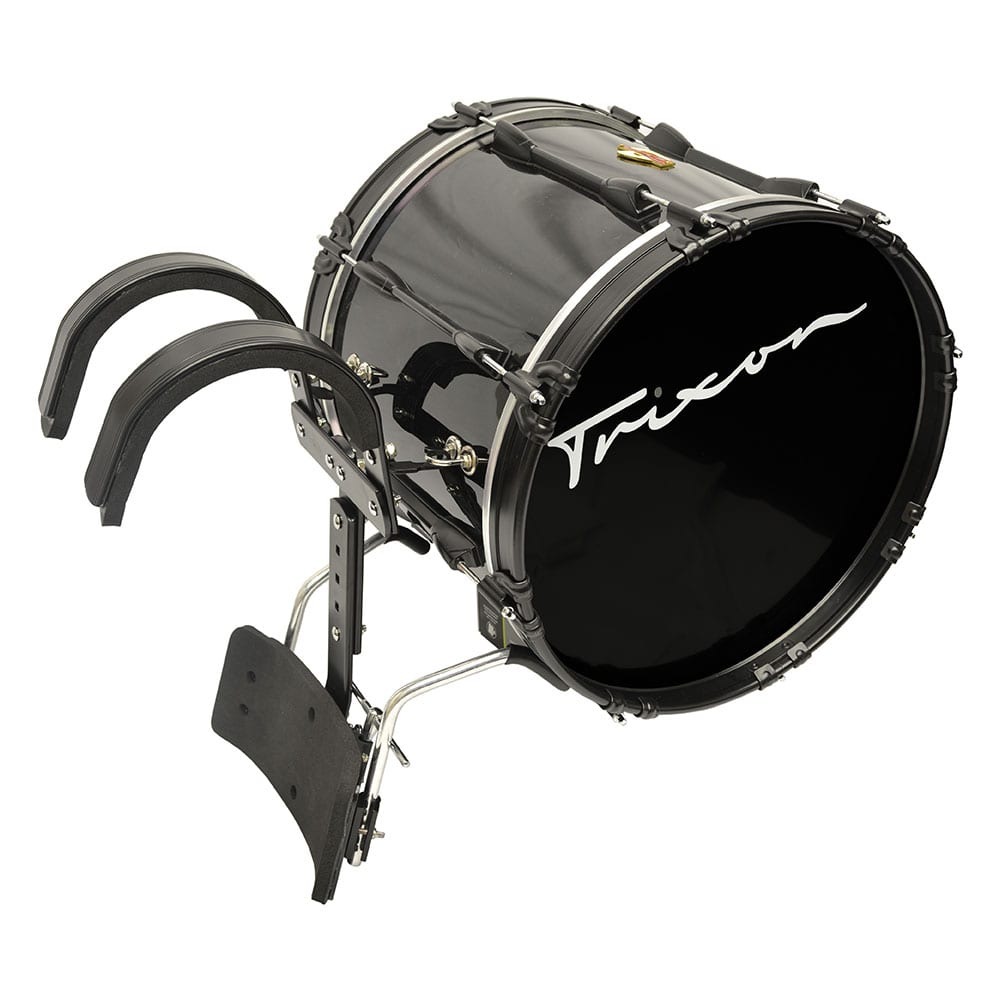 FIELD SERIES PRO MARCHING BASS DRUM 18 BY 14″ BLACK POLISH