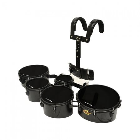 Field Series Tenor Marching Toms – 5 Piece BLACK POLISH