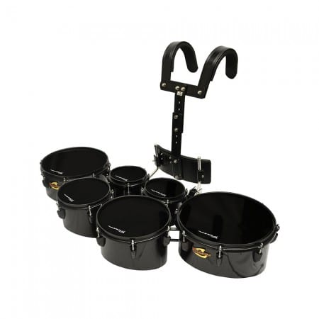 Field Series Pro Tenor Marching Toms – 6 Piece Ebony