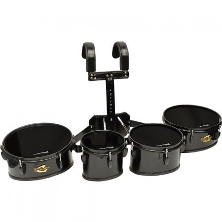 Field Series II Marching Toms Set of 4 Black Polish