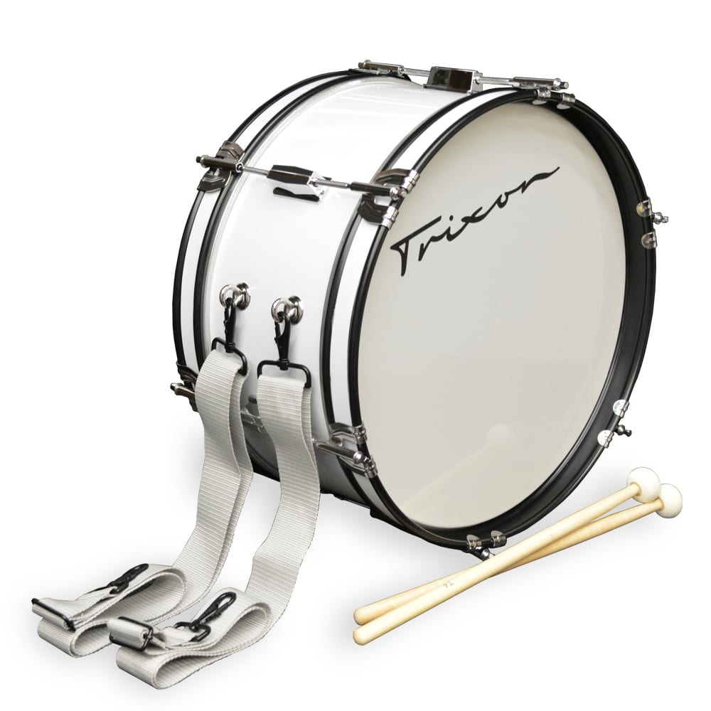 Junior Marching Bass Drum – White