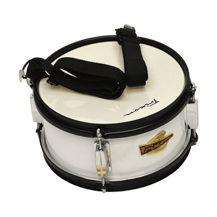 Junior Marching Snare Drum – White Polish